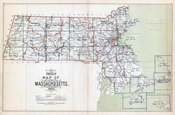 Index Map, Massachusetts State Atlas 1900